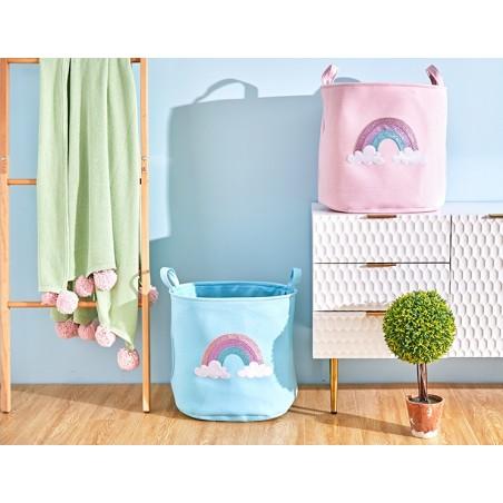 Pojemnik na zabawki kosz, worek na pranie rainbow OR24N