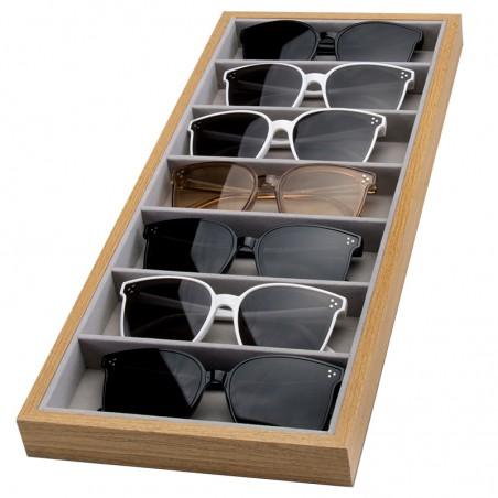 Szkatułka 7 przegródek na okulary lub akcesoria PDMDF08