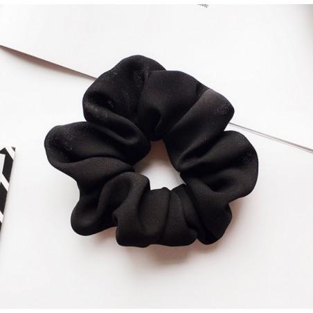 Gumka do włosów frotka czerń materiał GUM14CZ