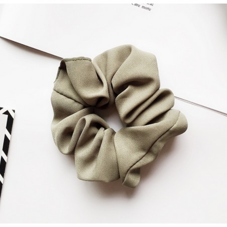 Gumka do włosów frotka zieleń materiał GUM14ZIE