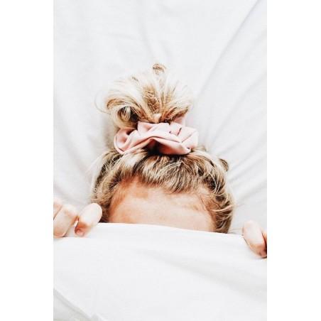 Gumka do włosów frotka róż materiał GUM14R