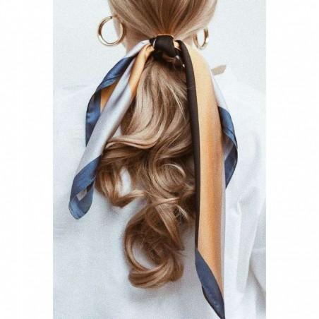 Gumka do włosów apaszka długa żółta kwiaty PIN UP GUM9WZ3