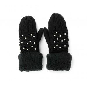 Rękawiczki perełkowe czarne...