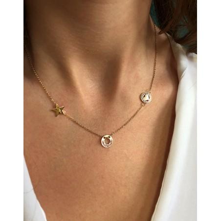 Chirurgische Halskette aus Edelstahl Gold NST925