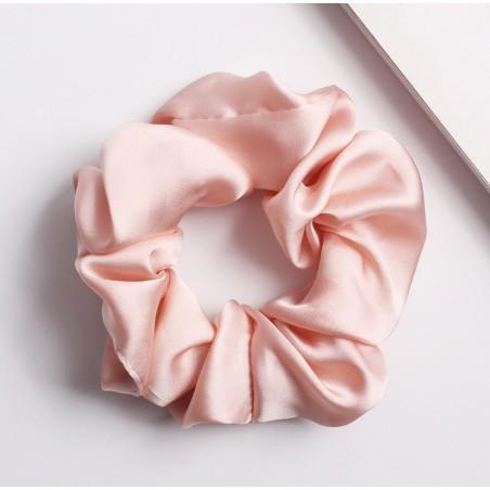 Gumka do włosów frotka satynowa róż GUM13R