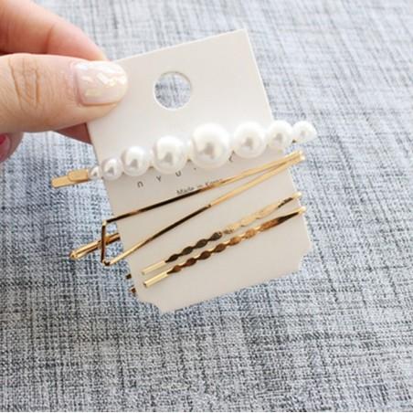 Spinki do włosów zestaw 4 szt perełki SP65